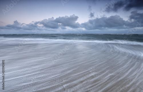 Canvas Noordzee blurred wave motion on North sea