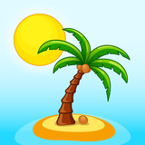 desert island and tree design - 203166476