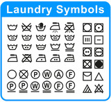 laundry symbols set on white background - 203166482