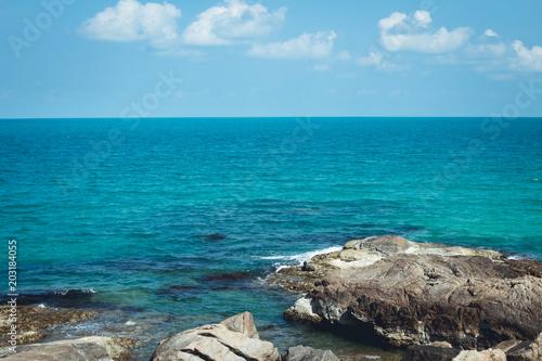 BlueSea White sand beachChaweng Beach, Koh Samui, Thailand