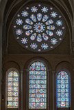 Stained-glass windows in Chartres Cathedral - 203184618