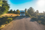 Motor home on a path - 203189016