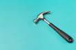 hammer on color background