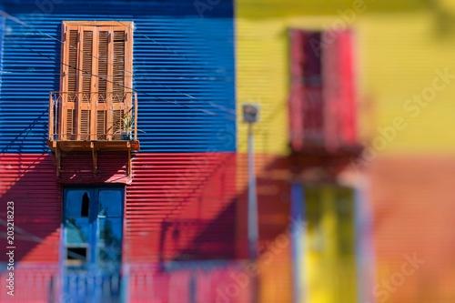 Fotobehang Buenos Aires Bright colors of Caminito in La Boca neighborhood of Buenos Aires