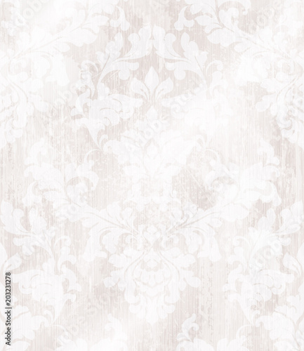 Baroque ornament wallpaper background. Vector delicate pattern. Royal pink decorations tile - 203231278