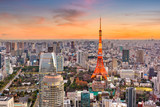 Tokyo, Japan cityscape and tower at dusk. © SeanPavonePhoto