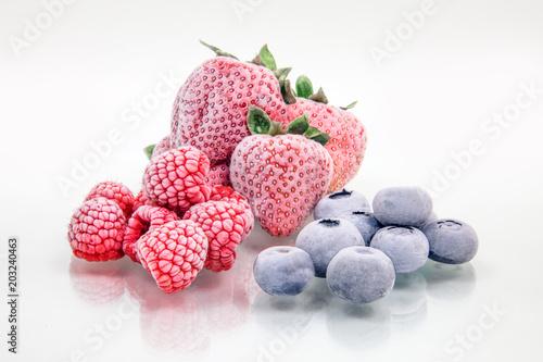 Foto Murales Frozen fruits