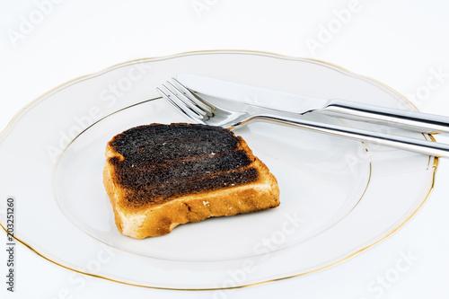 burnt toast slices of bread - 203251260