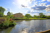 The Parthenon in Nashville, Tennessee is a full scale replica of the original Parthenon in Greece. The Parthenon is located in Centennial Park. - 203260057