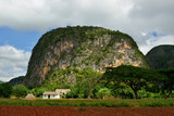 View over landscape with mogotes in Vinales Valley, Cuba, Pinar del Rio province