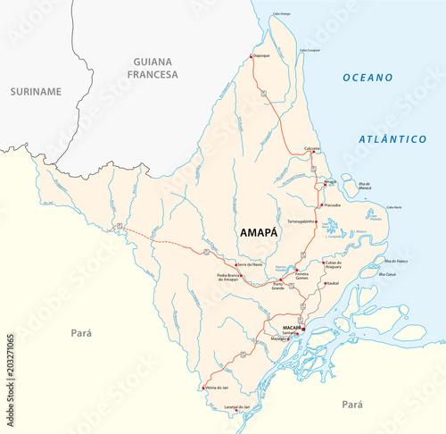 Fototapeta amapa road vector map