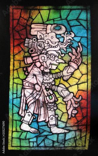 Aluminium Graffiti Batik de brujo maya