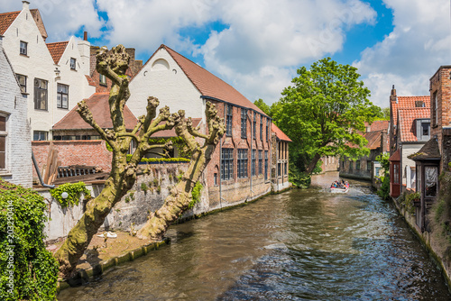 Plexiglas Brugge Beautiful canal of Bruges Belgium