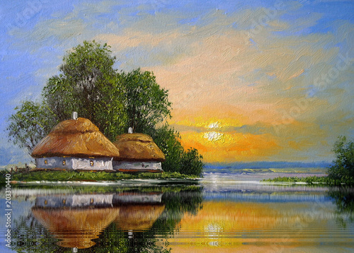 landliche-landschaft-der-olgemalde-kunst