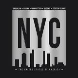 New York City for t-shirt print. New York skyline silhouette. T-shirt graphics - 203314249