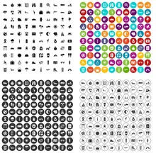 100 Tourist Trip Icons Set  In 4 Variant For Any Web Design   Sticker