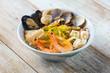 Quadro clear soup seafood noodle