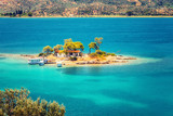 Small island in Aegean sea, Greece - 203334416