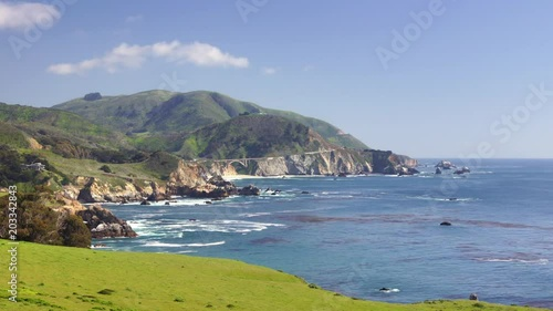 Panoramic time-lapse of Pacific coastline in California, #6