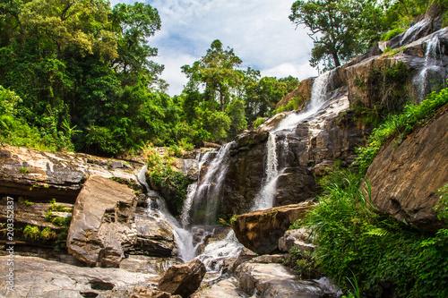 Mae Klang Waterfall, Chiang Mai, Thailand - 203352837