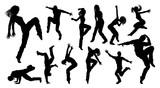 Street Dance Dancer Silhouettes - 203356226