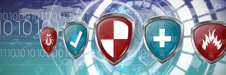 Composite image of digital logos