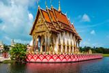 Zentraler buddhistischer Tempel Wat Plai Laem (Außenansicht)