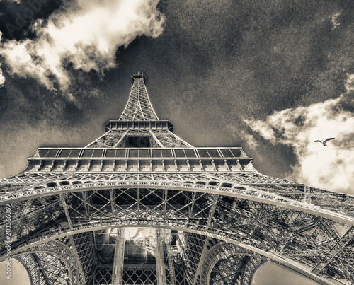 Fridge magnet Paris. The Eiffel Tower