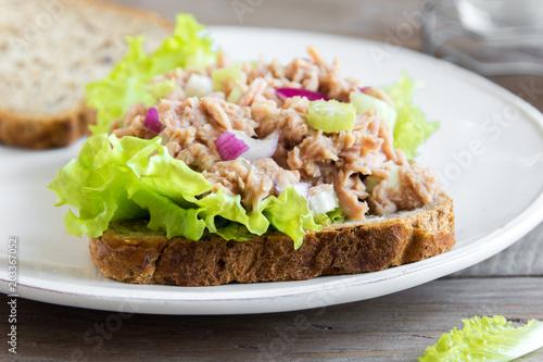 Fototapeta Tuna salad sandwich