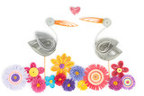 quilling with storks and flowers