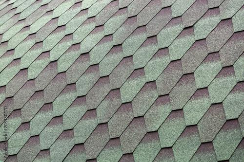 The asphalt roofing shingles.