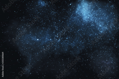 3D illustration - Stars and nebulae in the universe