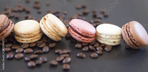 Foto Spatwand Macarons macarons café