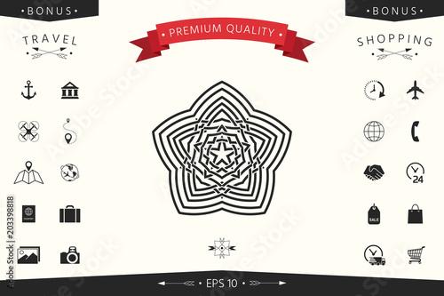 Geometric oriental arabic pattern. Element for your design. Logo