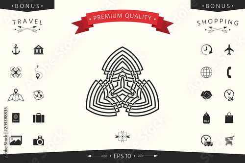 Geometric oriental arabic pattern. Logo
