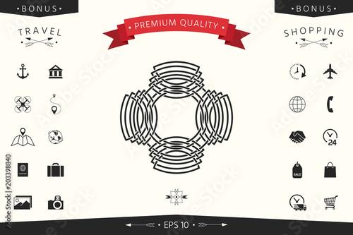 Geometric oriental arabic pattern. Logo. Element for your design