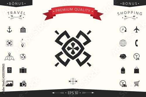 Geometric oriental pattern. Logo. Element for your design