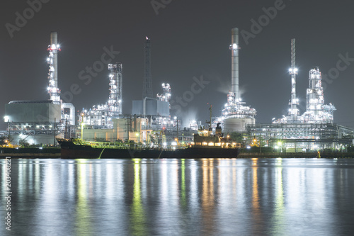 Canvas Bangkok Oil refinery climate change concept.