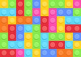 Seamless pattern of Plastic construction blocks
