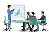 Geschäftsbesprechung, Unternehmens Bilanz - 203420664
