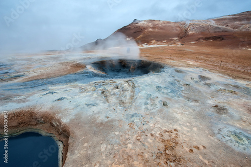 Aluminium Cappuccino Namafjall, Myvant lake, Iceland