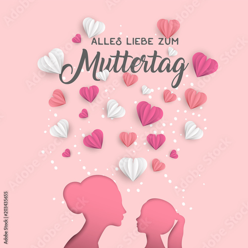 Mother day german card for family holiday love © cienpiesnf