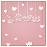 love card. lace font