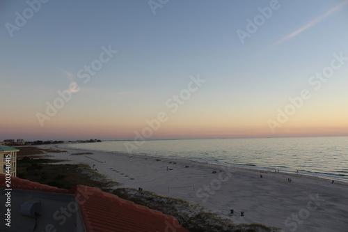 Plexiglas Strand Beach at Sunset