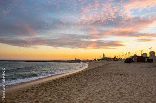 Fotobehang Barcelona The coast of Mediterranean sea
