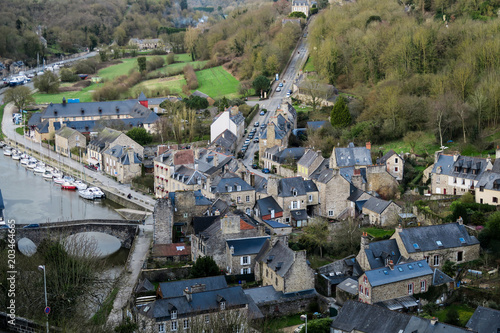 Poster Aerial view of Dinan, France