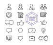 Internet business line icon set for web marketing
