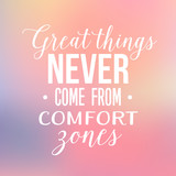 Motivation Quote - Great Things