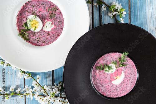 Foto Murales cold beet soup