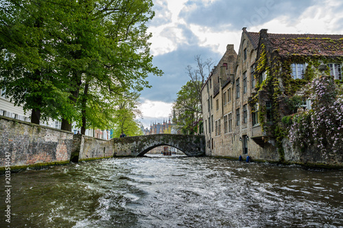 Plexiglas Brugge Brügge Grachtenfahrt